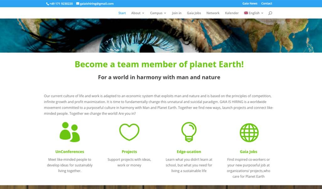 Gaia Is Hiring goes online!